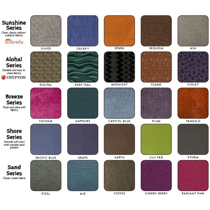 Fabrics Selections - Chill-Out Chairs