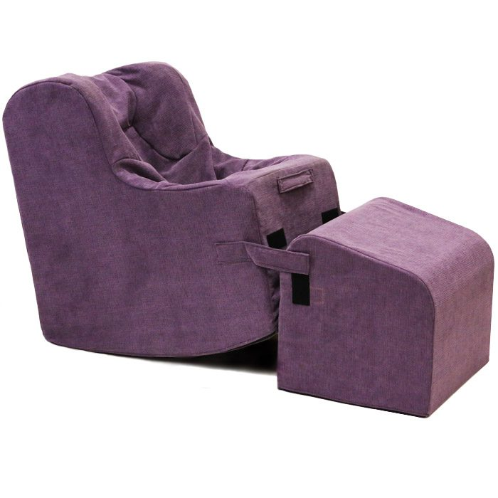Rock'er Chair in Plum Fabric
